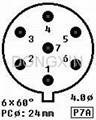 TUS-P7(TUS-P7-G) 7-pin ceramic socket