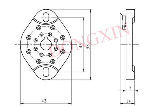 GZC8-NS(GZC8-NS-G)型瓷质平板八脚管座 4