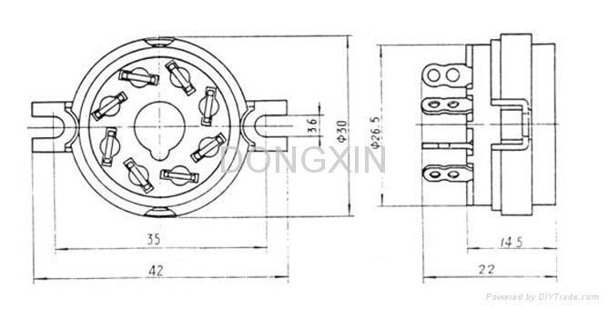 GZC8-1(GZC8-1-G)型瓷质八脚管座 4