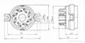 GZC8-1(GZC8-1-G) 8-pin ceramic socket