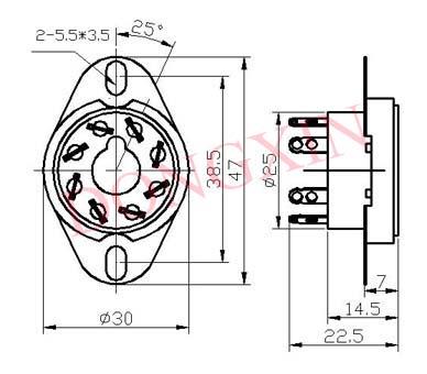 GZC8-1-A(GZC8-1-A-G)型瓷质新八脚管座 4