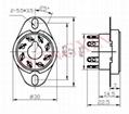 GZC8-1-A(GZC8-1-A-G) 8-pin ceramic socket