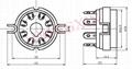 GZC8-Y-1(GZC8-Y-1-G)型瓷质八脚管座 4