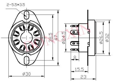 GZC8-Y-3(GZC8-Y-3-G)型瓷质八脚管座 4