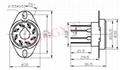 GZC8-Y-4(GZC8-Y-4-G) 8-pin ceramic socket