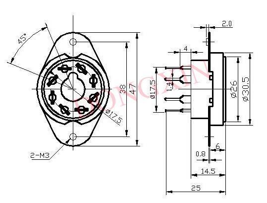 GZC8-Y-5(GZC8-Y-5-G)型瓷质八脚管座 4