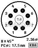 GZC8-Y-D(GC8-Y-D-G)型瓷质八脚管座 5