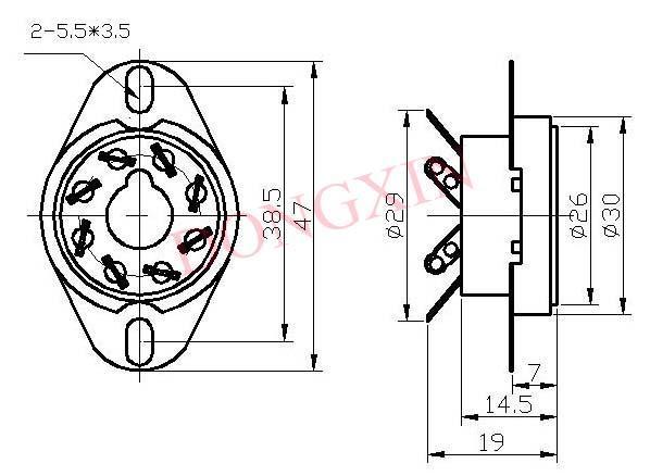GZC8-Y-6(GZC8-Y-6-G)型瓷质八脚管座 4