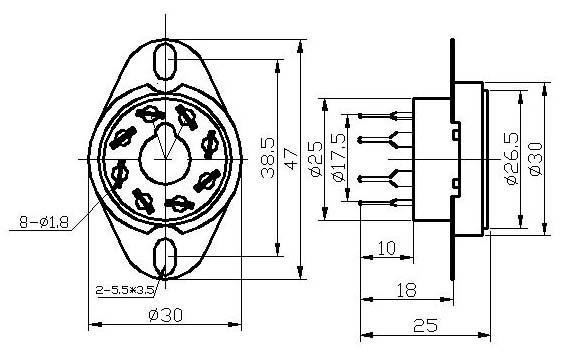 GZC8-Y-7(GZC8-Y-7-G)型瓷质八脚管座 4