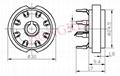 GZC8-8-Y(GZC8-8-Y-G) 8-pin ceramic socket