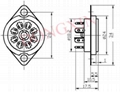 GZC8-Y-9(GZC8-Y-9-G)型瓷质八脚管座 3
