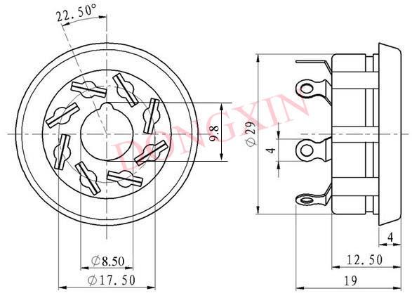 S8WPI(S8WPI-G)型胶木八脚管座 4
