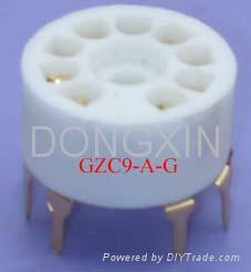 GZC9-A(GZC9-A-G)型瓷质小九脚管座 3