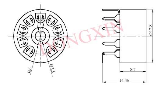 GZC9-A(GZC9-A-G)型瓷质小九脚管座 4