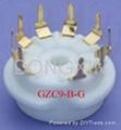GZC9-B(GZC9-B-G)型瓷质小九脚管座 3