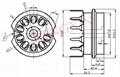 GZC9-B(GZC9-B-G)型瓷质小九脚管座 4
