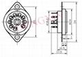 GZC9-C-1(GZC9-C-1-G)型瓷质小九脚管座 4