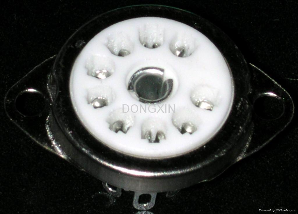 GZC9-C-1(GZC9-C-1-G)型瓷质小九脚管座 2