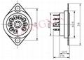 GZC9-C-2(GZC9-C-2-G) 9-pin ceramic socket