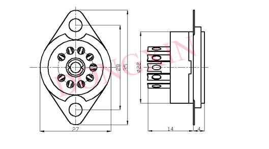 GZC9-F(GZC9-F-G)型瓷质九脚管座 4