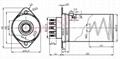 GZC9-F-A-55型瓷質鋁罩帶九腳管座