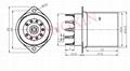 GZC9-F-Y1 9-pin ceramic socket with shield base