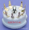 GZC9-Y1(GZC9-Y1-G) 9-pin ceramic socket
