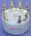 GZC9-Y-3(GZC9-Y-3-G) 9-pin ceramic socket