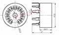 GZC9-Y-3(GZC9-Y-3-G)型瓷质九脚管座 4
