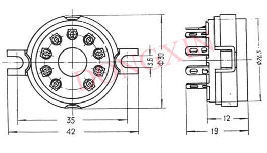 GZC9-2(GZC9-2-G)型瓷质九脚管座 3