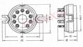 GZC9-2(GZC9-2-G) 9-pin ceramic socket