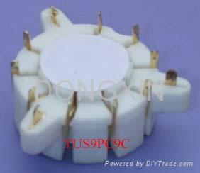 TUS9PC9C(TUS9PC9C-G)型瓷质九脚管座 3