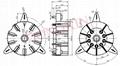 TUS9PC9C(TUS9PC9C-G)型瓷质九脚管座 4
