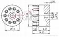GZS9-Y(GZS9-Y-G)型塑料九脚管座 4