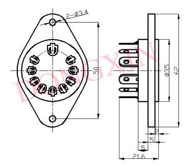 GZC10-B(GZC10-B-G)型瓷质十脚管座 3