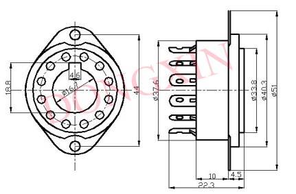 GZC12-F型瓷质十二脚管座 3