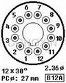 GZC12-F型瓷质十二脚管座 4