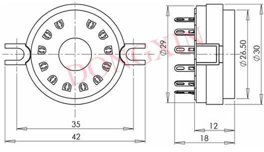 GZC12-F-1型瓷质十二脚管座 3