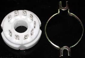 GZC9-2(GZC9-2-G) 9脚陶瓷管座 2