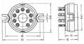 GZC9-2(GZC9-2-G) 9脚陶瓷管座