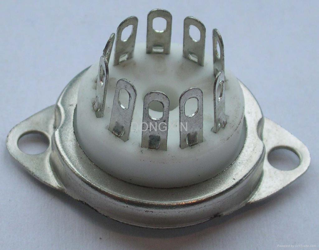 GZC10-C-2(GZC10-C-2-G)10脚瓷质管座 2