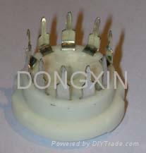 GZC10-C-Y(GZC10-C-Y-G) 10脚瓷质管座 1