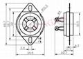 GZC4-C-2(GZC4-C-2-G) 四腳瓷質搭棚管座