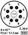 GZC8-Y-6(GZC8-Y-6-G) 8-pin ceramic socket