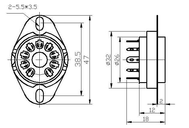 GZC9-1S(GZC9-1S-G)型瓷质九脚管座 3