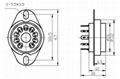 GZC9-2-F(GZC9-2-F-G)型瓷质九脚管座 3