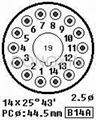 GZS14-Y(GZS14-Y-G) 胶木14脚管座 4