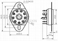 GZC9-L型九脚锁式陶瓷管座 3