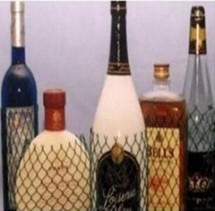 White Extruded  PE Wine Bottle Sleeves,Protective Wine Bottle Net