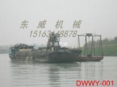 出口朝鲜皮带输送式自卸运沙船